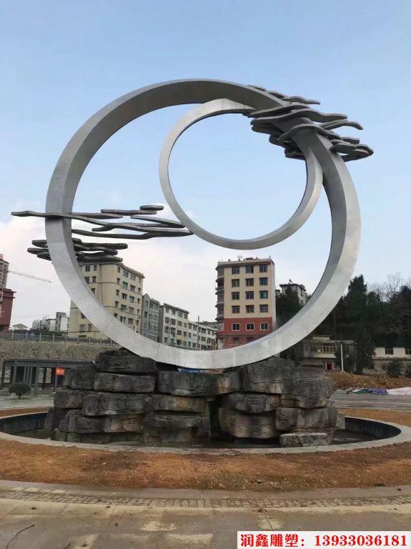 企业不锈钢雕塑,不锈钢祥云景观装饰