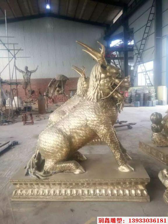 企业铜麒麟雕塑1