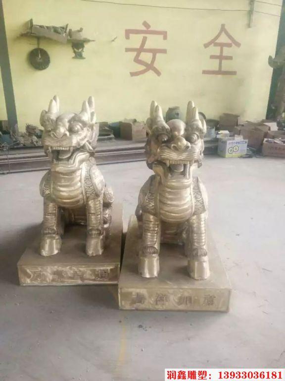 企业铜麒麟雕塑3