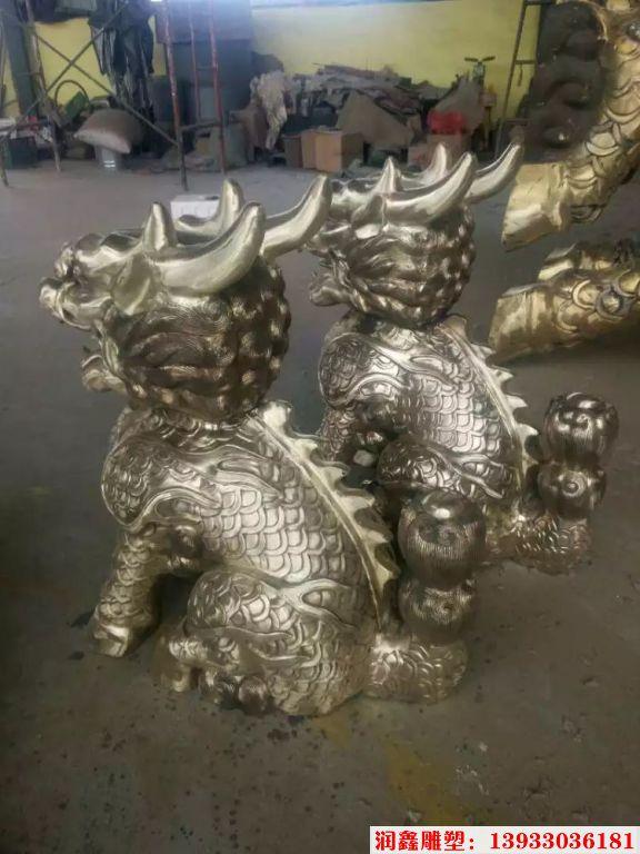 企业铜麒麟雕塑8