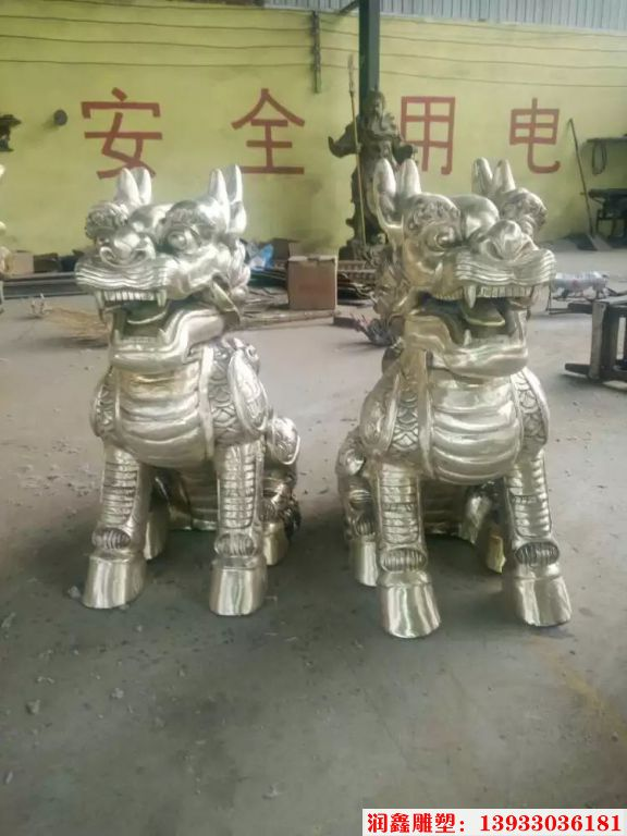 企业铜麒麟雕塑7