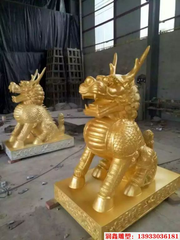 企业铜麒麟雕塑10