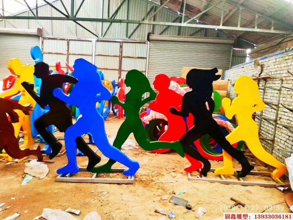 人物奔跑剪影雕塑1